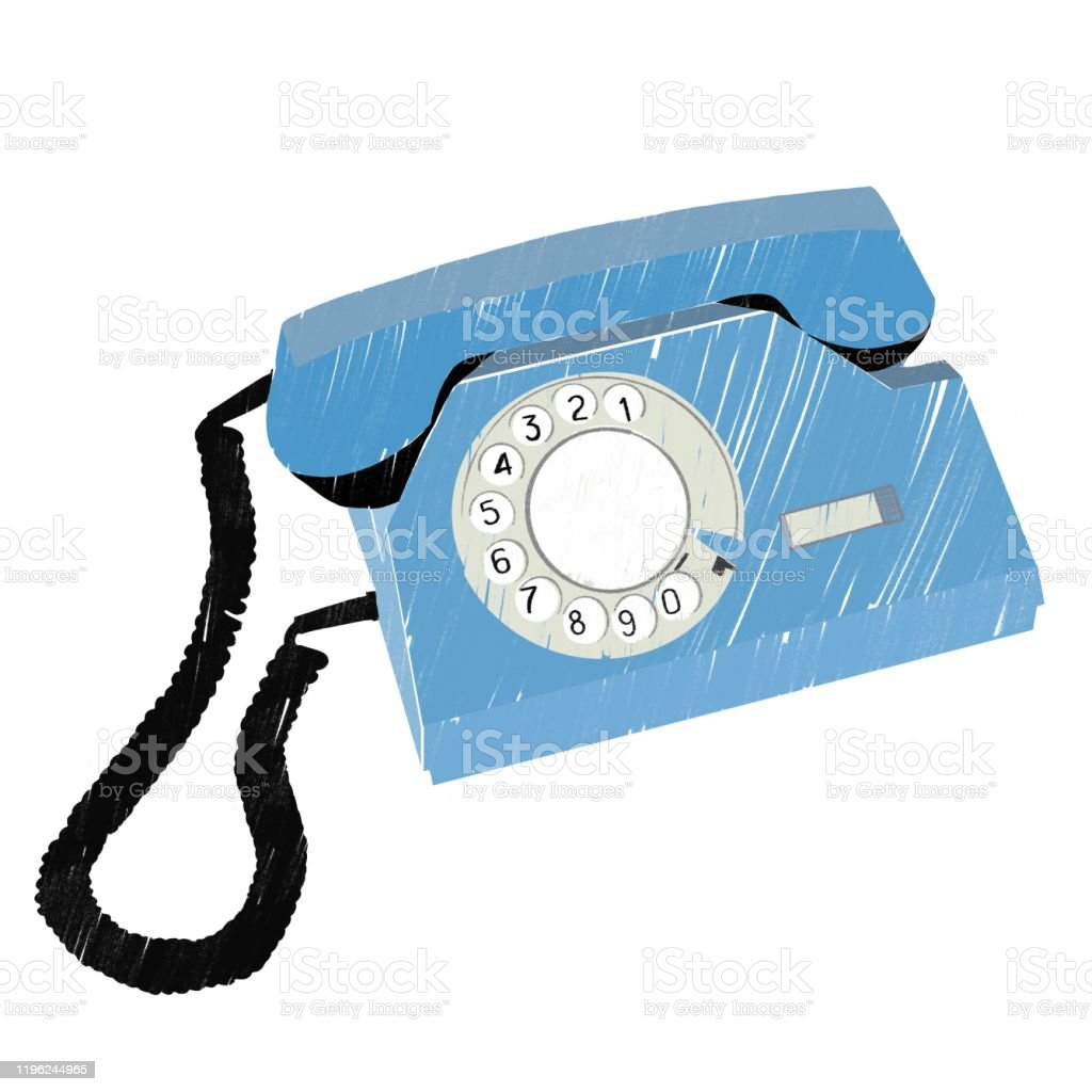 Retro telephone - Royalty-free Blue stock illustration