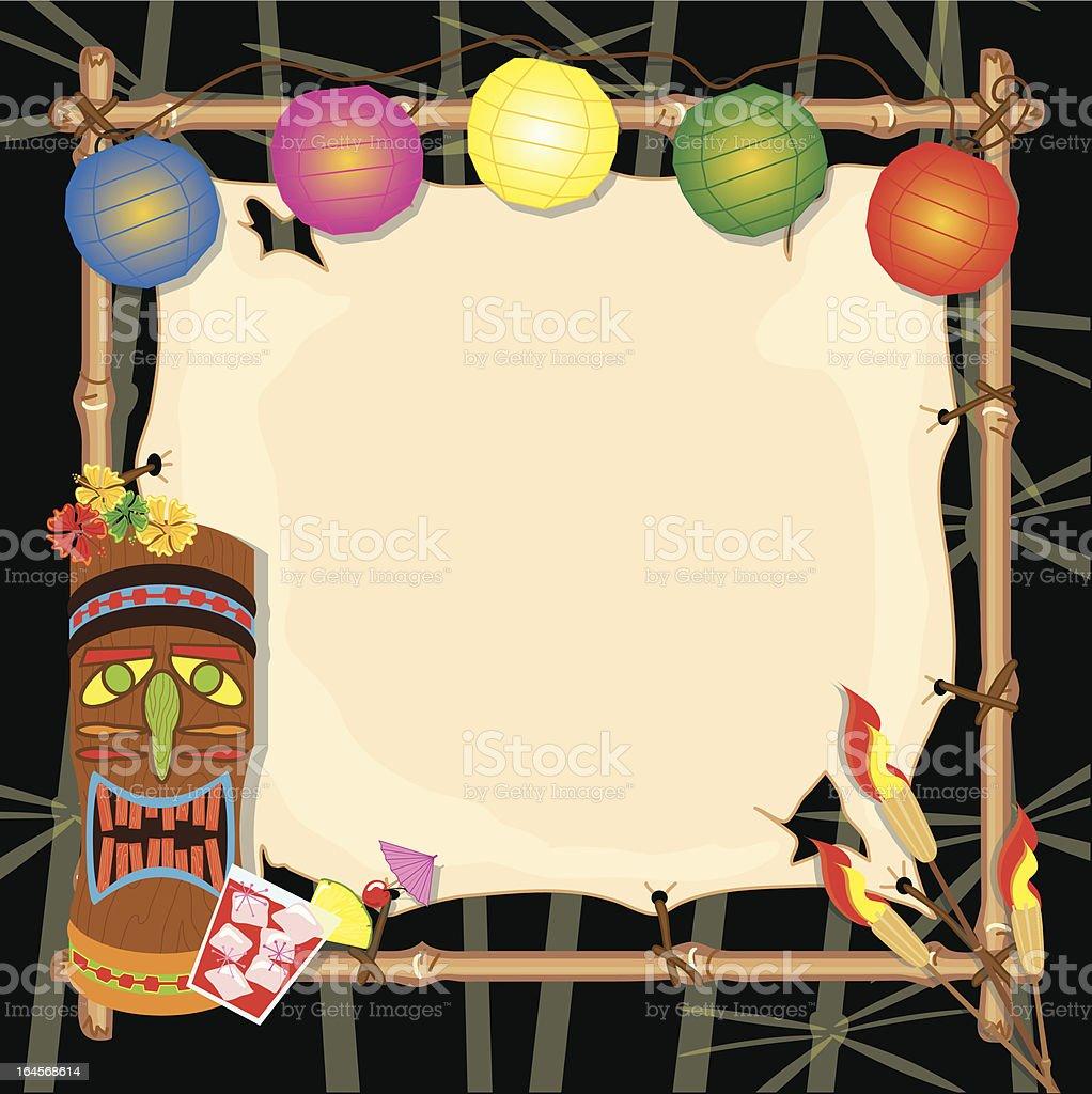 Retro Tiki Luau Party vector art illustration