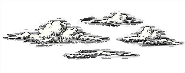 retro vector clouds - clouds 幅插畫檔、美工圖案、卡通及圖標