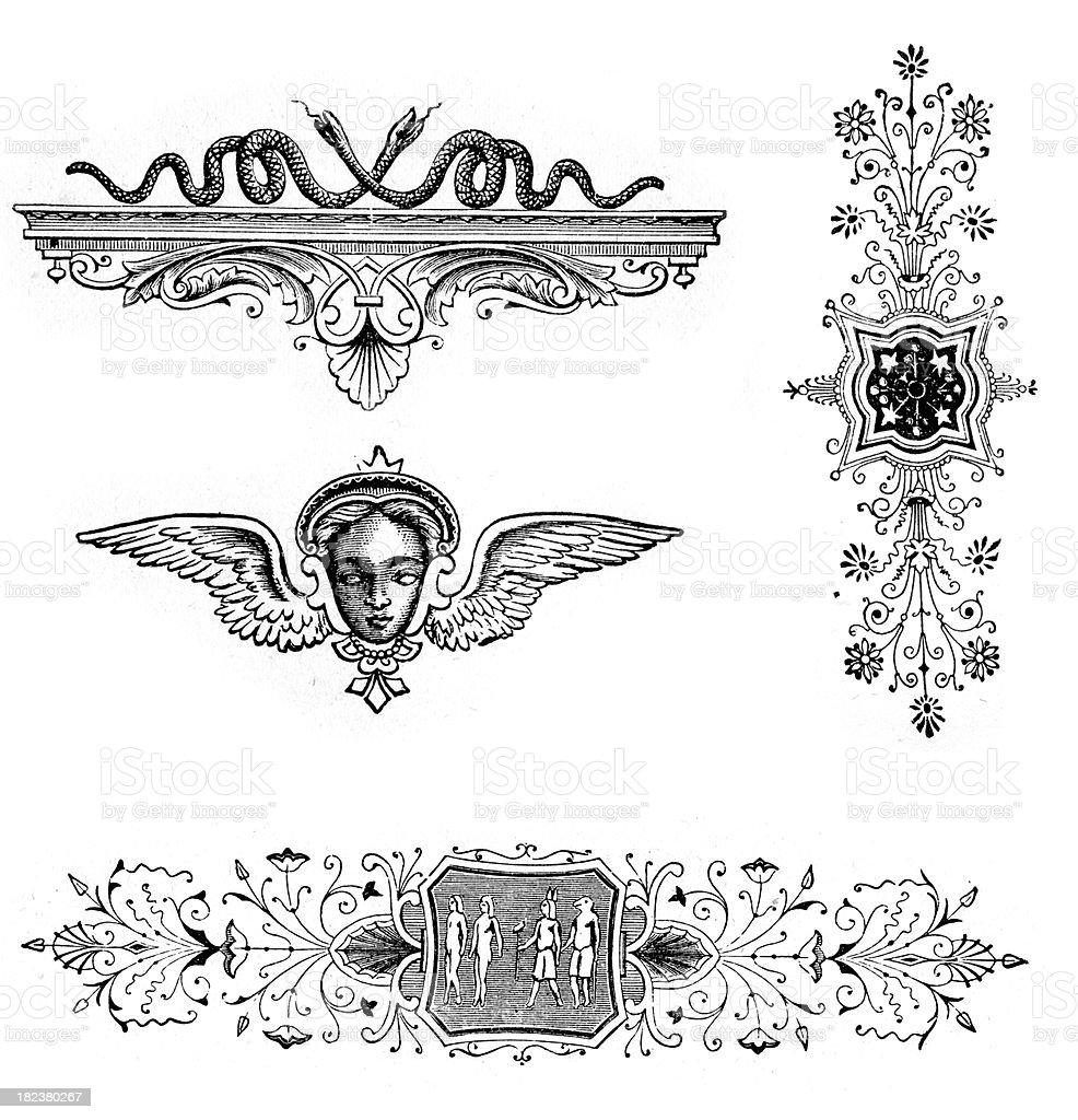 Retro Vintage Design Elements vector art illustration