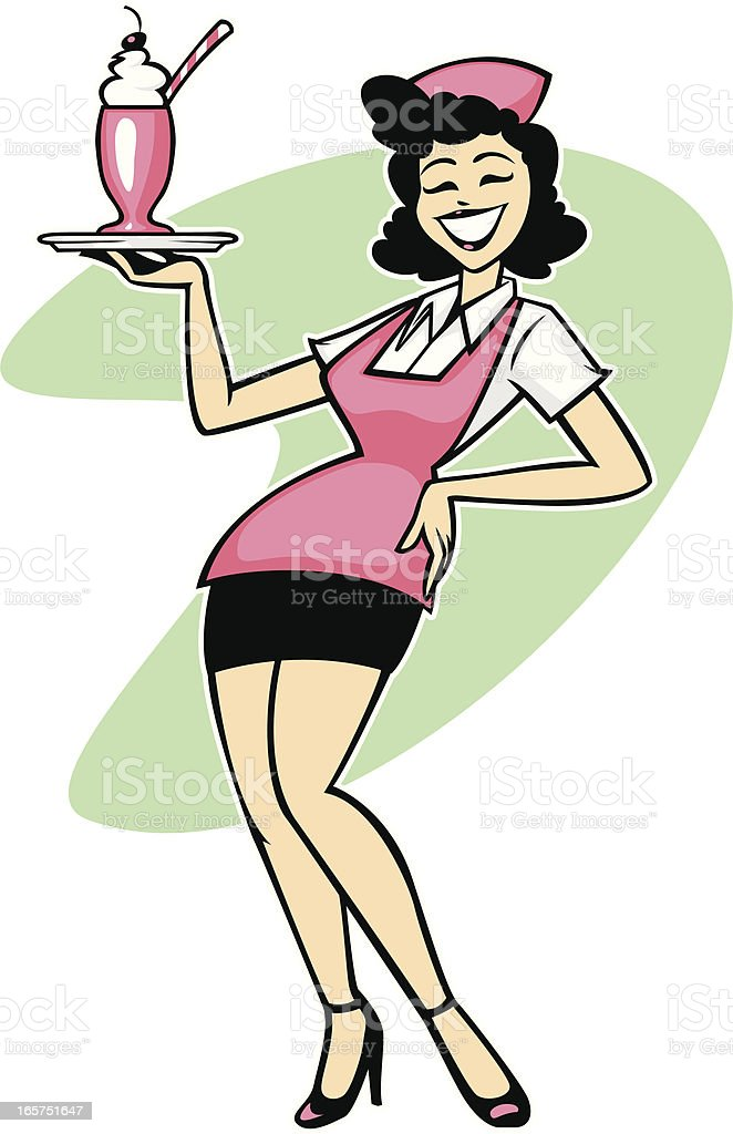 royalty free waitress clip art vector images illustrations istock rh istockphoto com waiter waitress clipart waitress clipart graphics