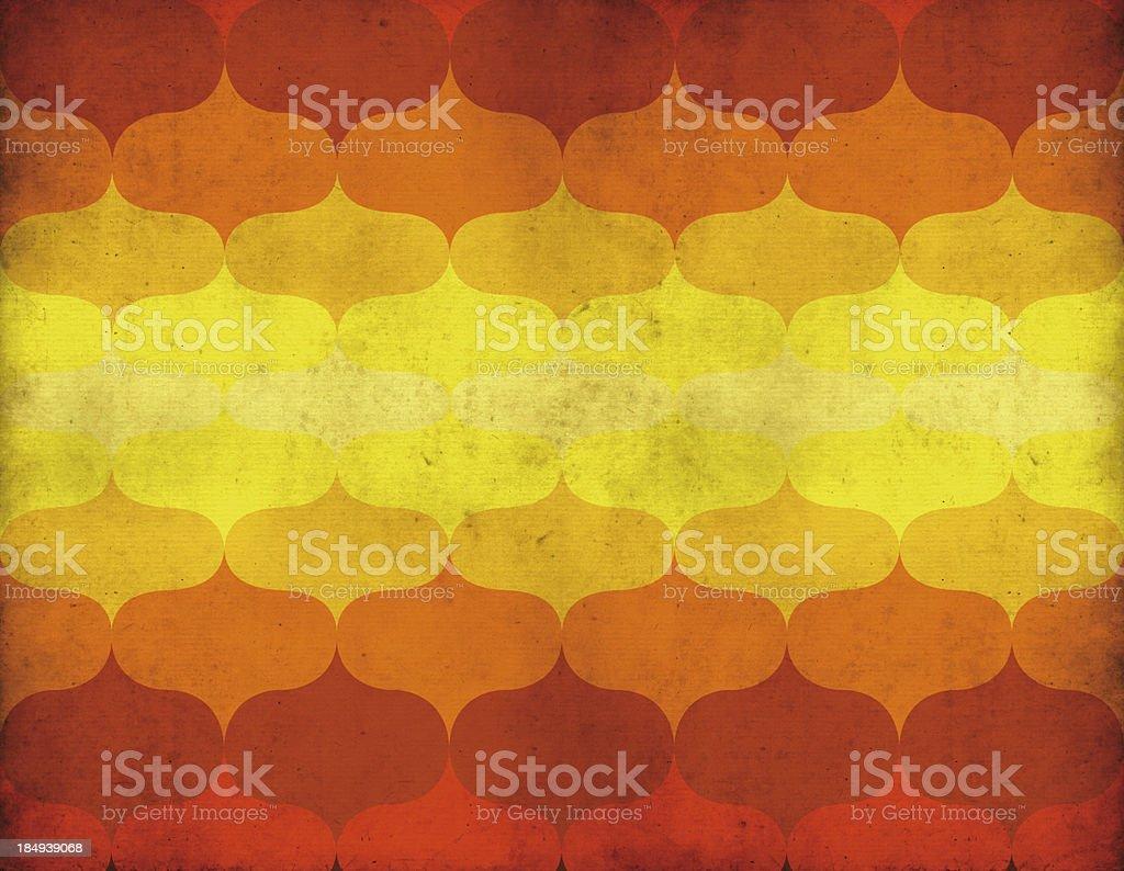 Papel de parede retrô - ilustração de arte em vetor