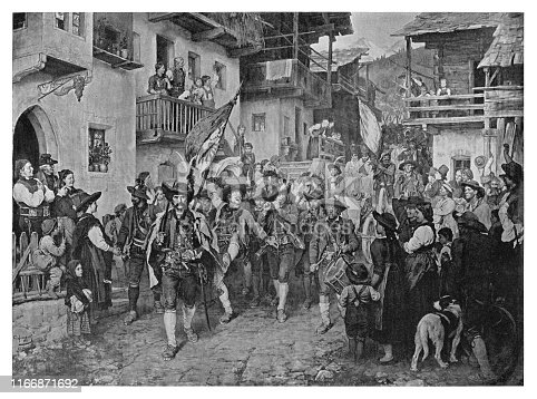 Return of the victors - Scanned 1894 Engraving