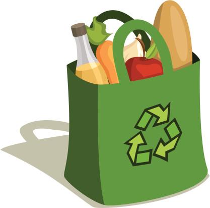 Reusable Grocery Bag Full of Food
