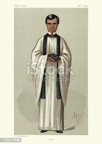 istock Rev. Henry White, Prayers, Vanity fair caricature 1222379690