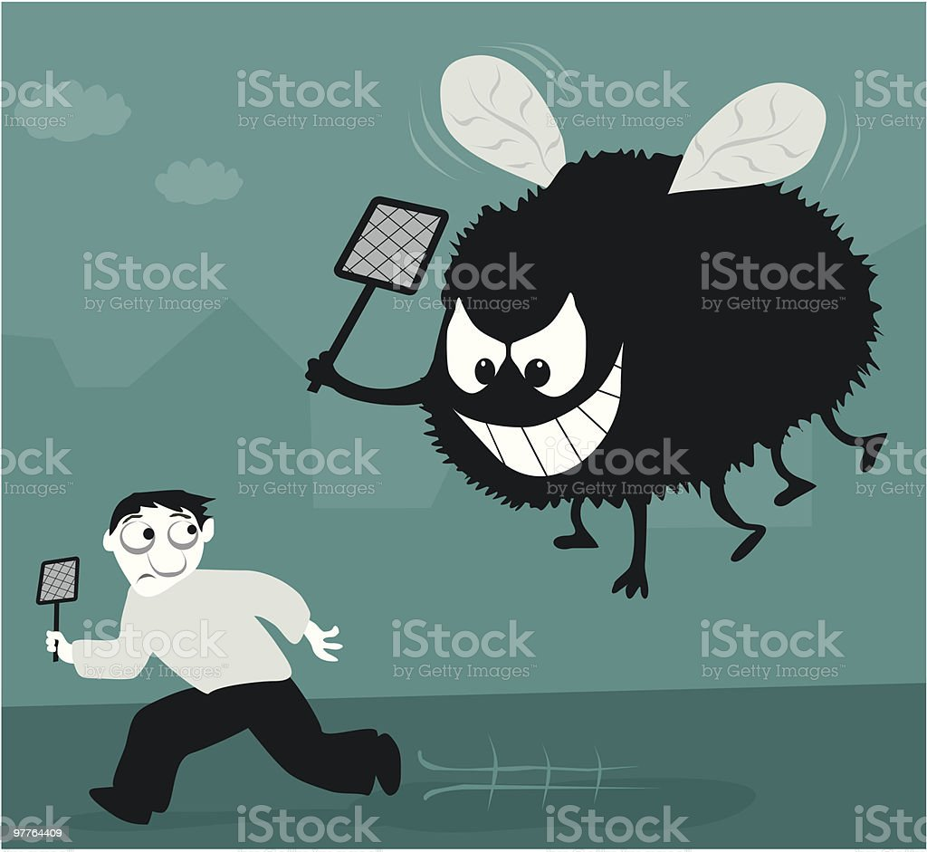 Revenge of the Fly! royalty-free revenge of the fly stock vector art & more images of adult
