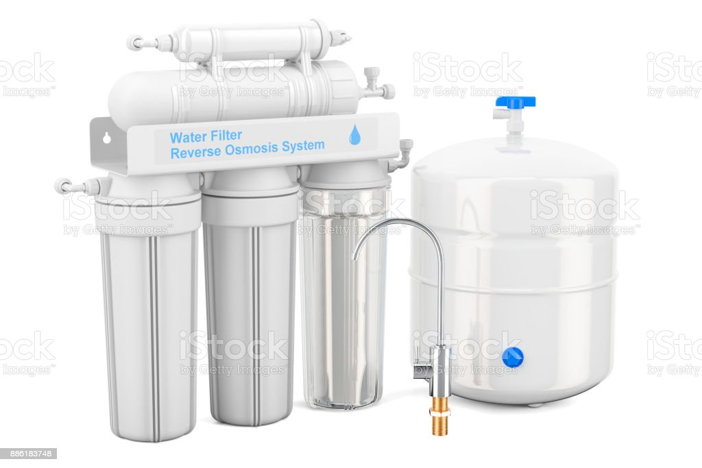 Reverse Osmosis System, 3D rendering vector art illustration