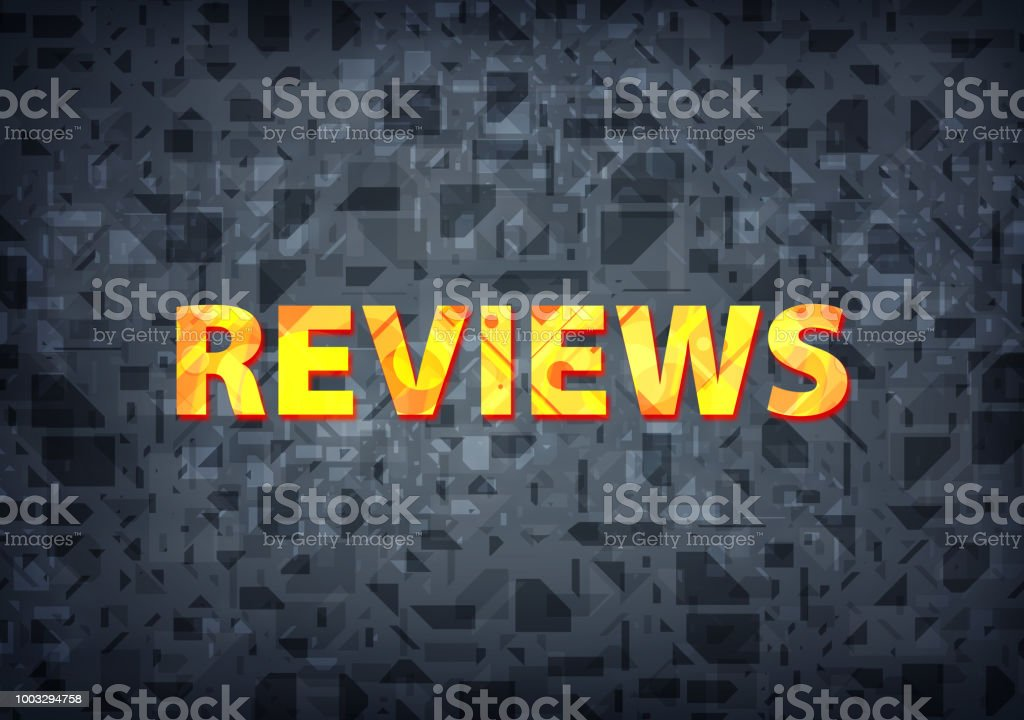 Reviews Black Background Stock Illustration - Download Image Now
