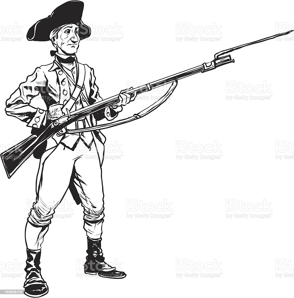 Revolutionary War Soldier Stock Vector Art & More Images ... American Revolution Soldier Clipart