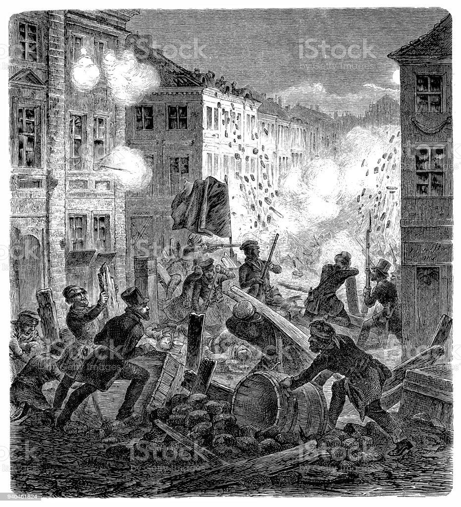 回転 18481849 年ドイツプロイセ...