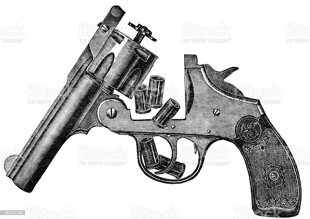 revolver royalty-free stock vector art
