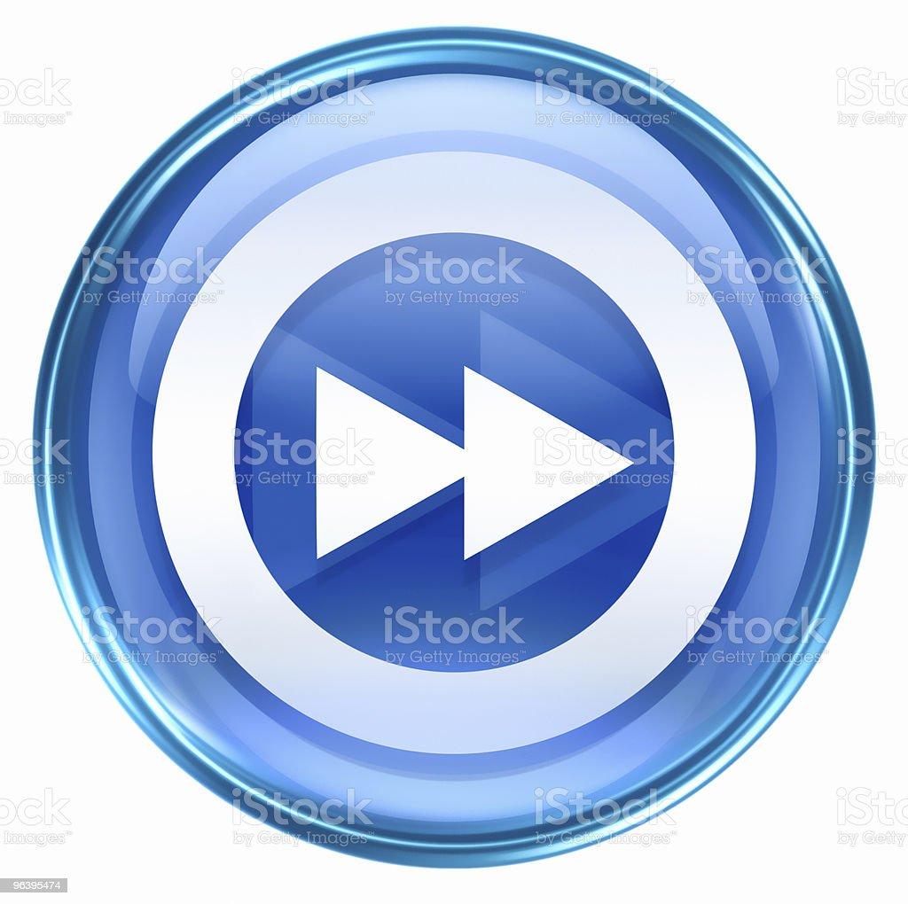 Rewind Forward icon blue, isolated on white background - Royalty-free Blue stock illustration