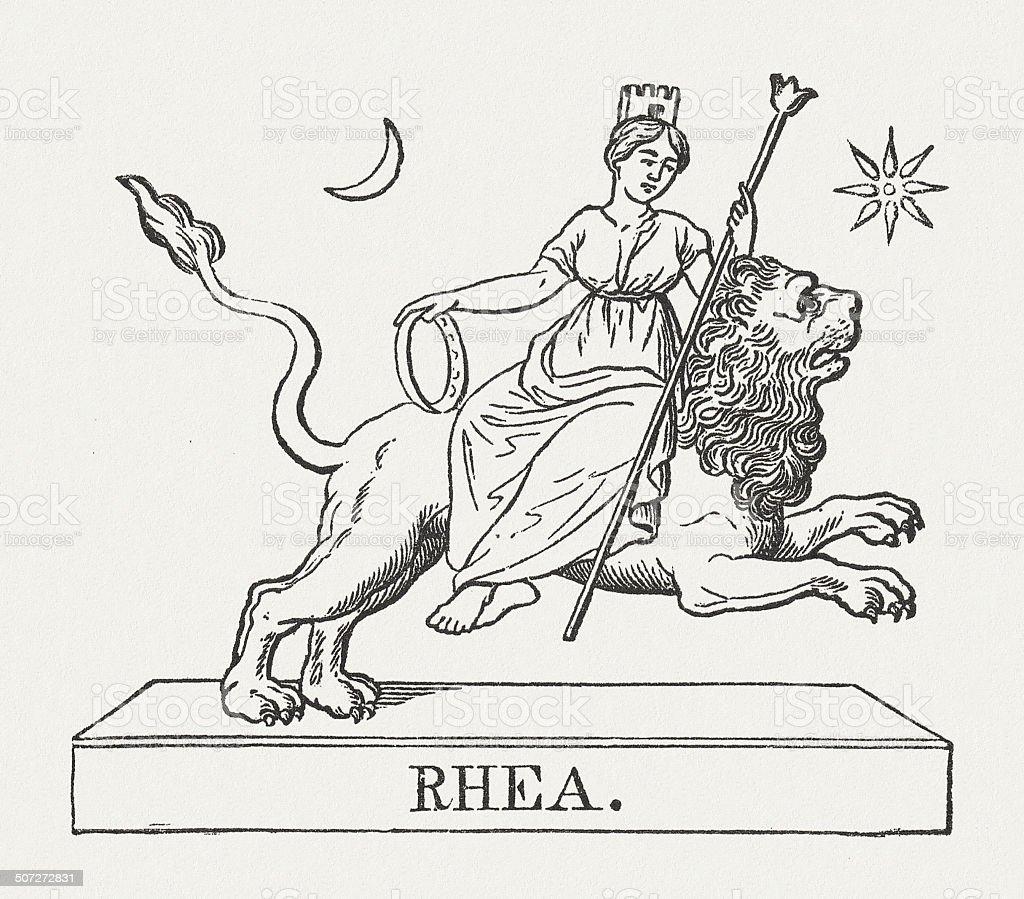Rhea Rides On The Lion Greek Mythology Published In 1878