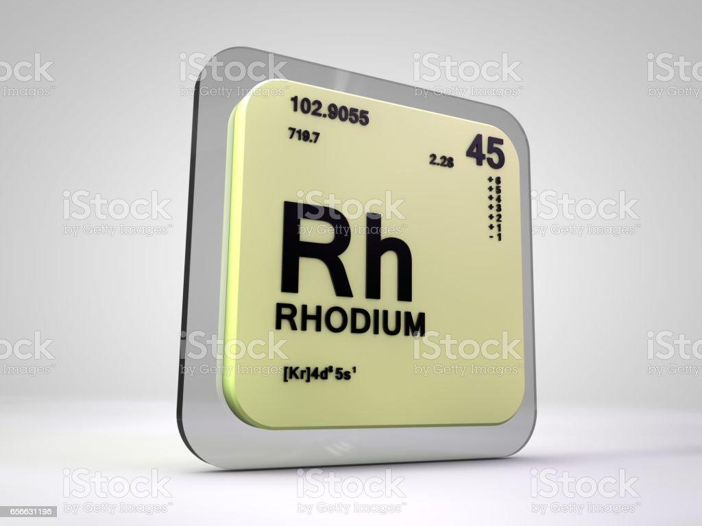 Rhodium rh chemical element periodic table 3d render stock vector rhodium rh chemical element periodic table 3d render royalty free stock vector art gamestrikefo Images