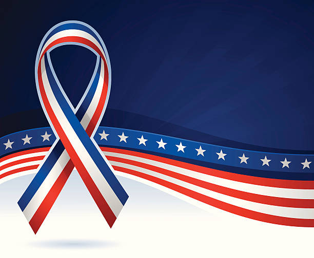 USA Ribbon Background USA ribbon background with copy space. inauguration stock illustrations