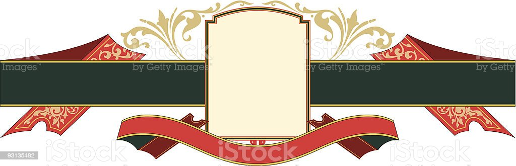 Ribbon Panel - vector royalty-free stock vector art