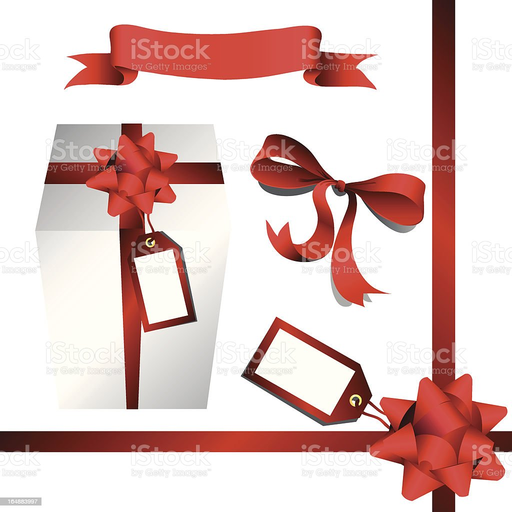Ribbons, Bows, Boxes & Tags (VECTOR) vector art illustration