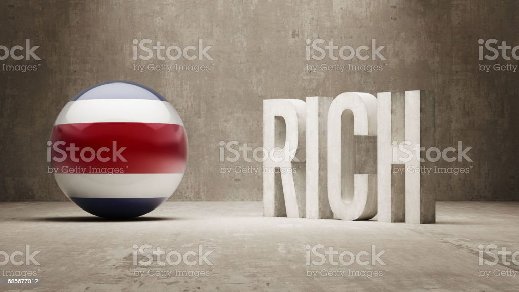 Rich Concept 免版稅 rich concept 向量插圖及更多 costa rican flag 圖片