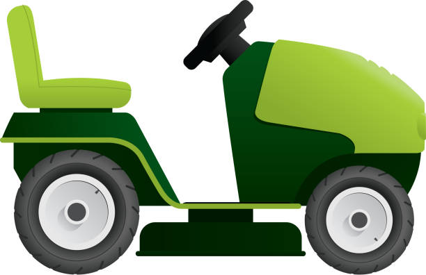 Royalty Free Riding Mower Clip Art, Vector Images ...