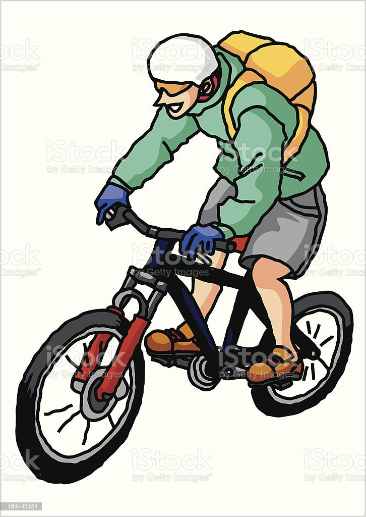 riding a MTB royalty-free riding a mtb stock vector art & more images of adult