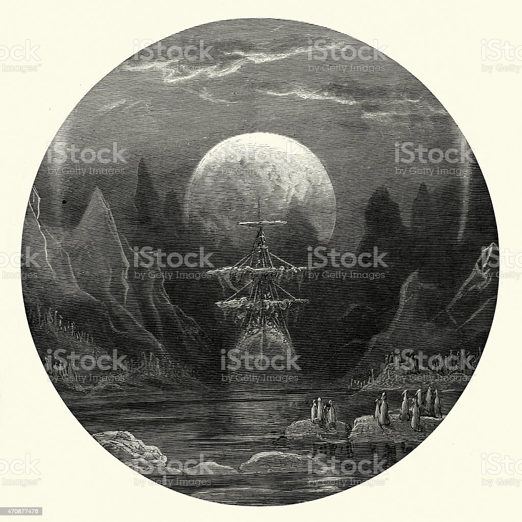 Rime of the ancient mariner the ghost ship stock vector art more rime of the ancient mariner the ghost ship royalty free rime of the ancient biocorpaavc Images