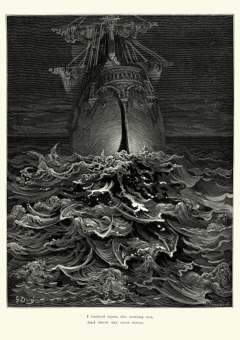 Rime of the Ancient Mariner - upon the rotting sea