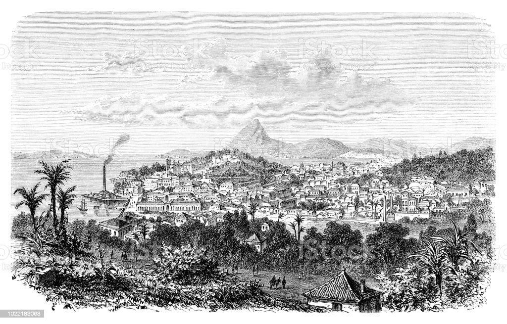 シュガーローフ マウンテンとボタフォゴ湾 1876 リオ デ ジャネイロ ...