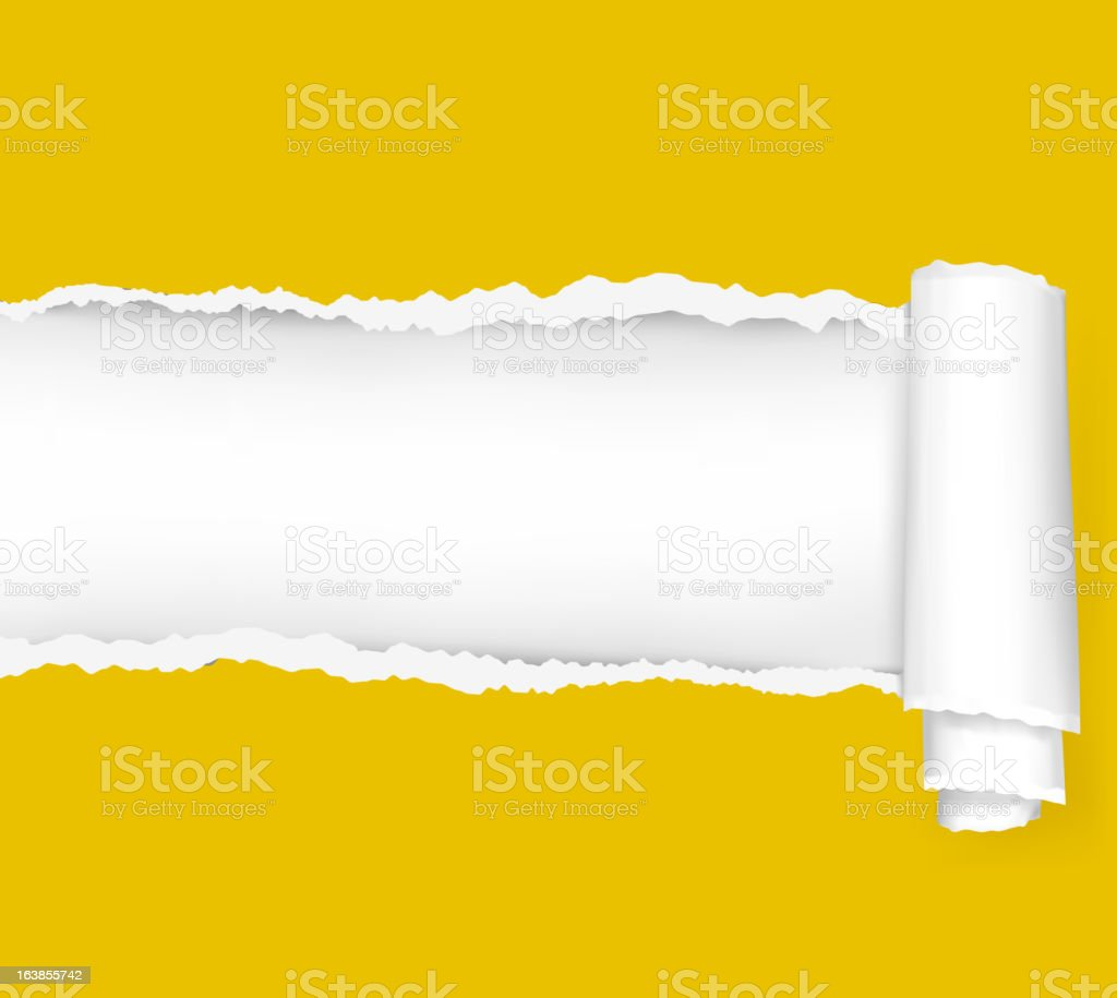 Ripped yellow paper background. Vector illustration. royalty-free ripped yellow paper background vector illustration stock vector art & more images of abstract