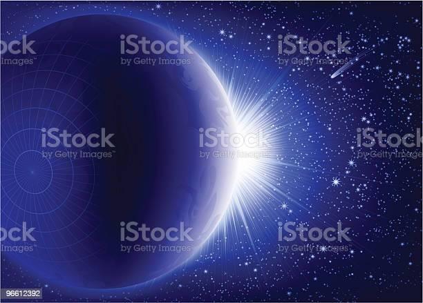 Поднимаясь — стоковая векторная графика и другие изображения на тему Астрономия