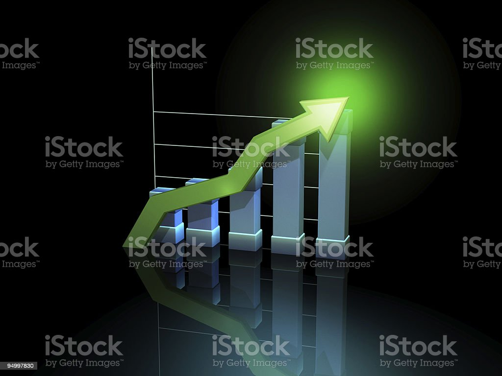 Rising trend royalty-free stock vector art