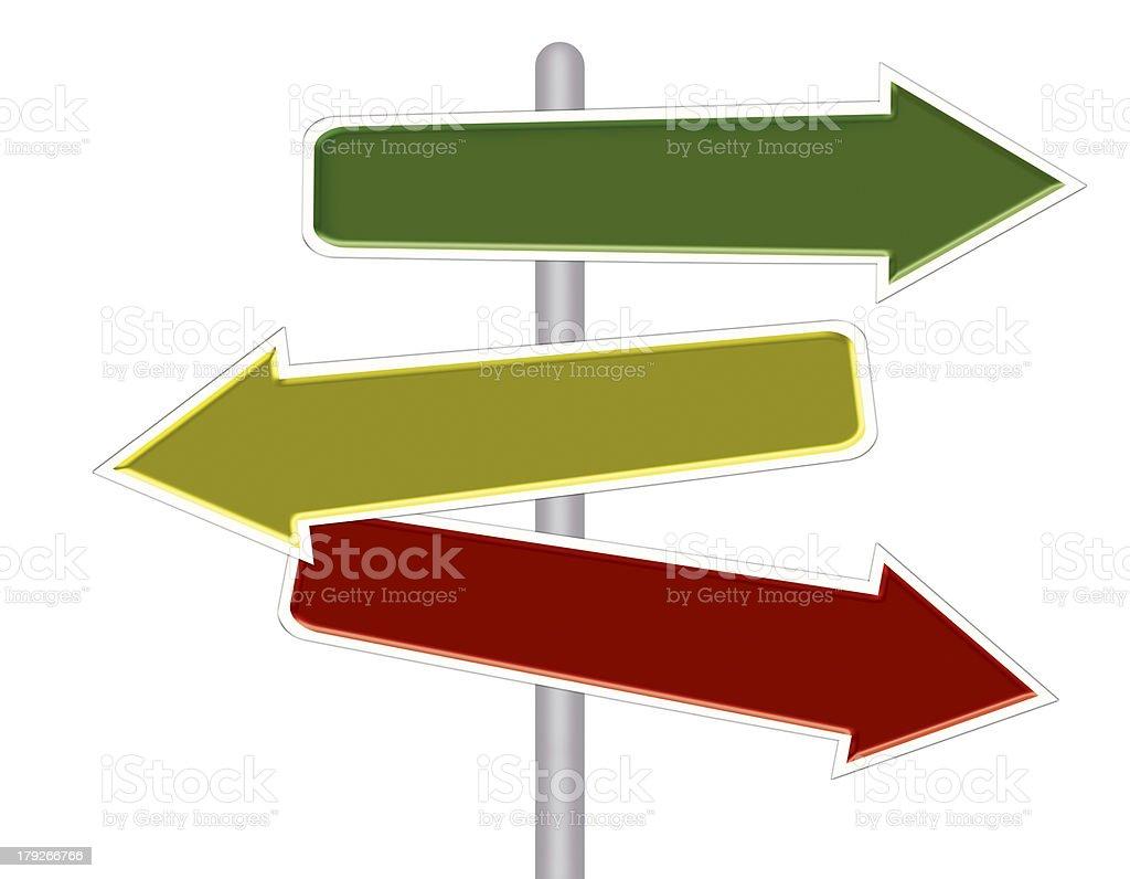 Road arrow sign royalty-free road arrow sign stock vector art & more images of arrow symbol