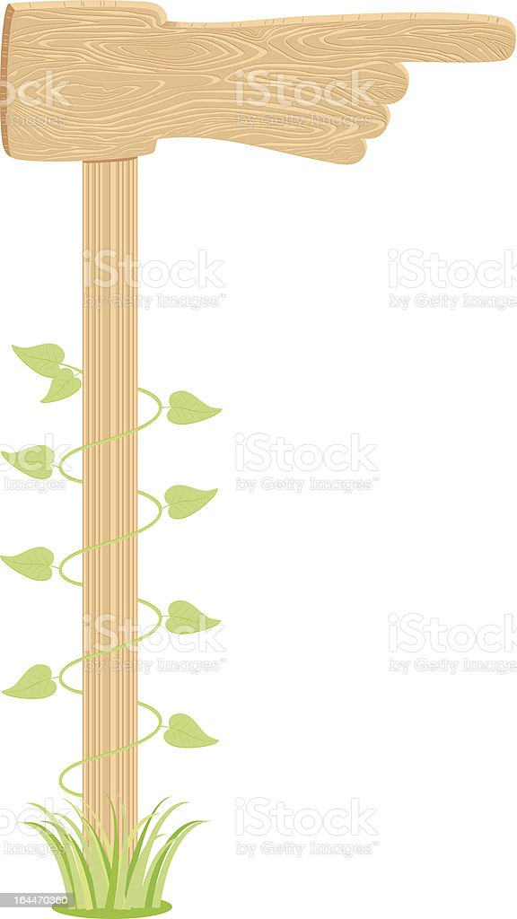 Road sign in the form of a hand. royalty-free stock vector art