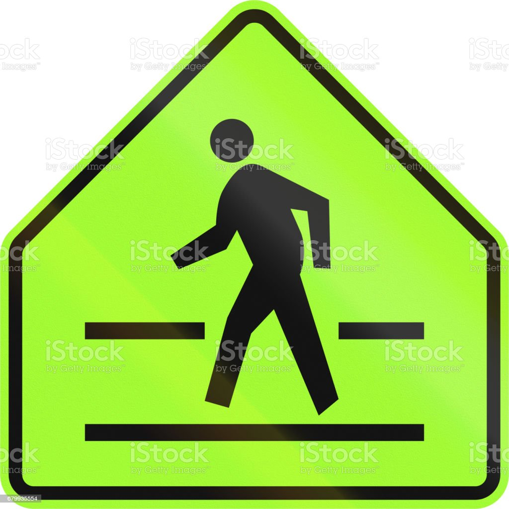 road sign in the philippines pedestrian crossing sign アジア大陸の