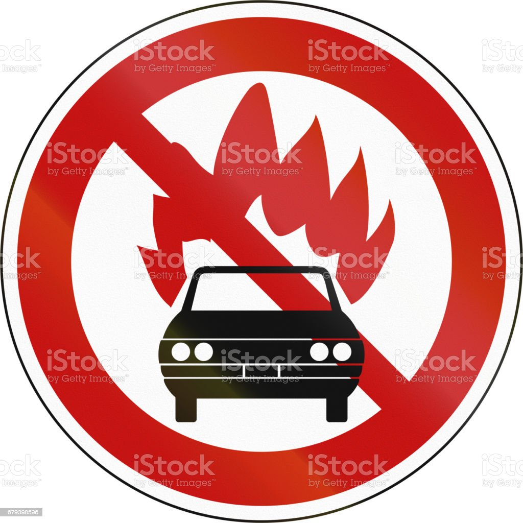 Road Sign - No Flammable Goods in South Korea royalty-free road sign no flammable goods in south korea stock vector art & more images of asia