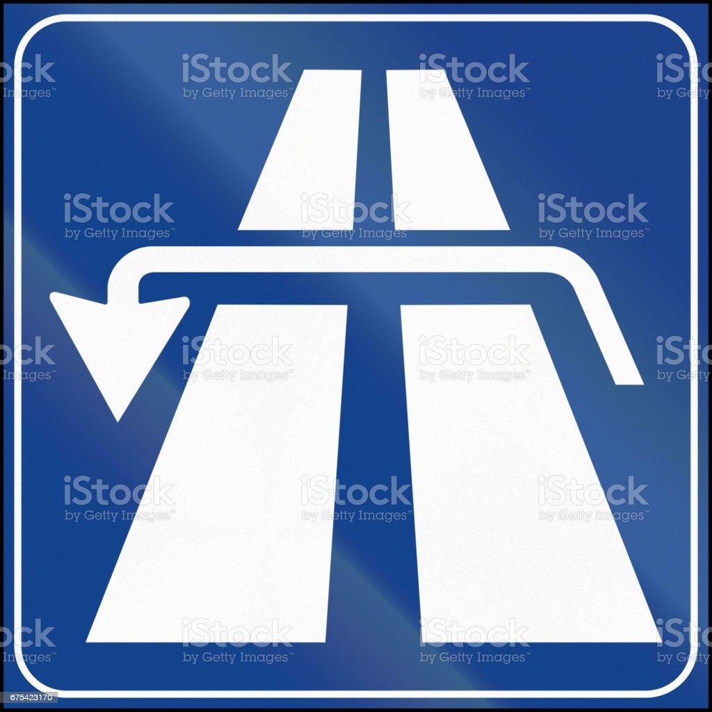 Road sign used in Italy - reverse road sign used in italy reverse – cliparts vectoriels et plus d'images de bleu libre de droits