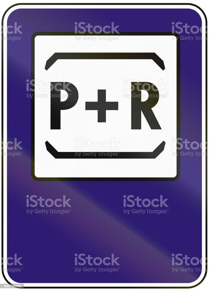 Road sign used in Slovakia - Park and ride road sign used in slovakia park and ride - immagini vettoriali stock e altre immagini di blu royalty-free