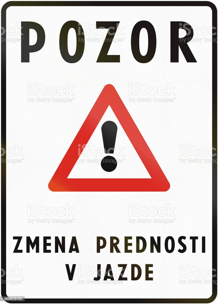 Road Sign Used In Slovakia
