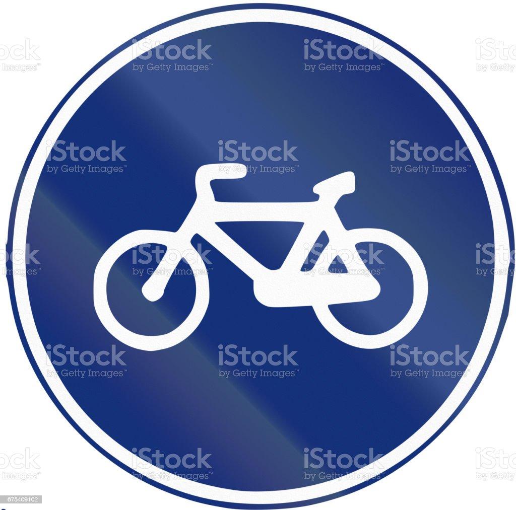 Panneau de signalisation utilisés en Espagne - route de vélo panneau de signalisation utilisés en espagne route de vélo – cliparts vectoriels et plus d'images de bleu libre de droits