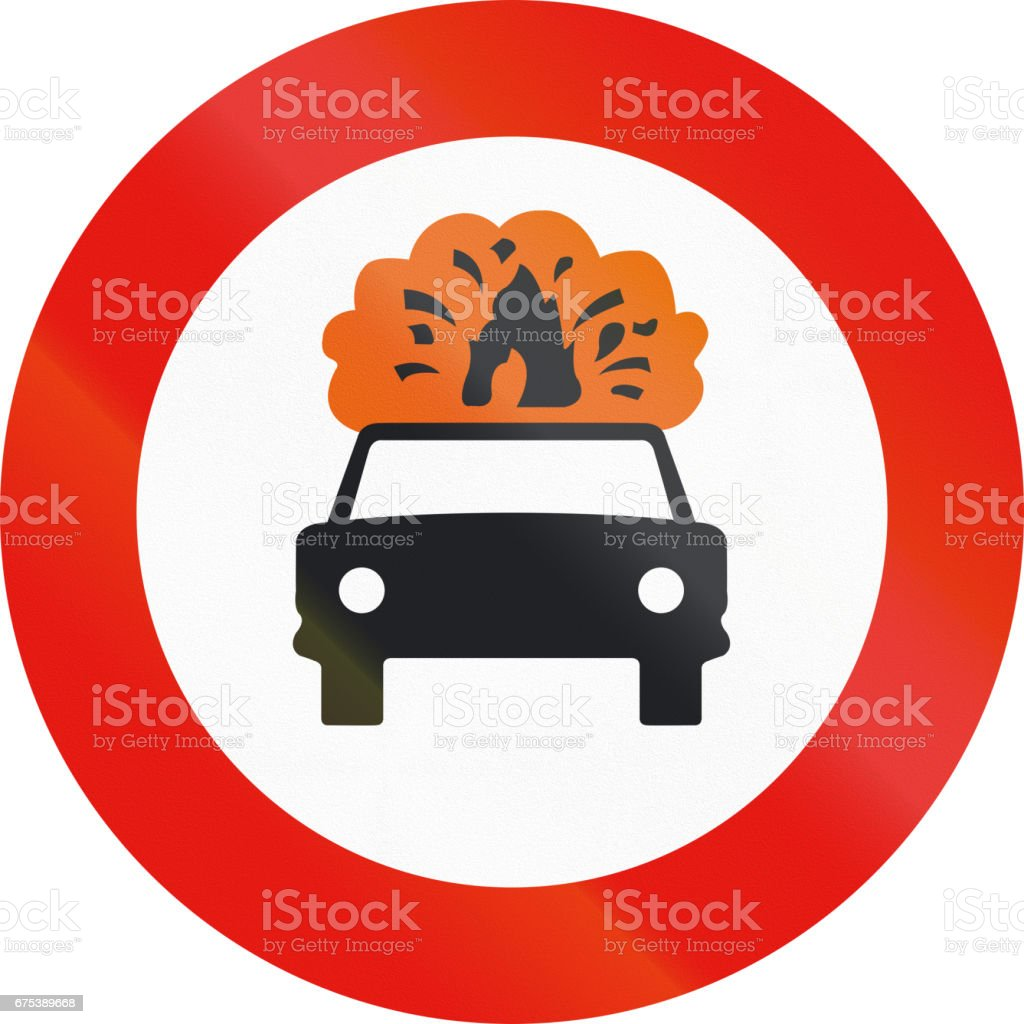 Road sign used in Spain - Forbidden entry to vehicles carrying explosive or flammable goods road sign used in spain forbidden entry to vehicles carrying explosive or flammable goods – cliparts vectoriels et plus d'images de carré - composition libre de droits