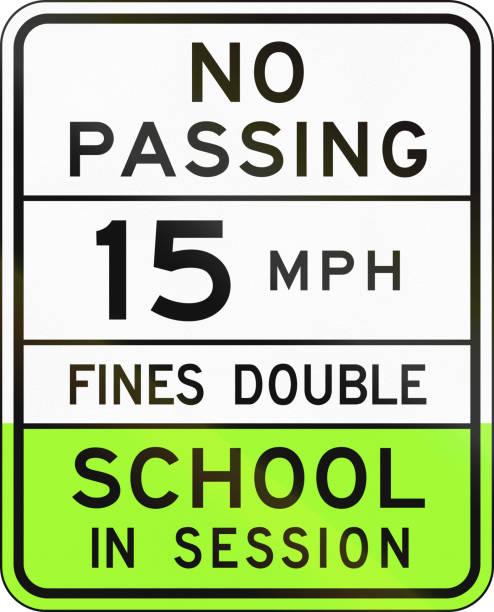 stockillustraties, clipart, cartoons en iconen met verkeersbord gebruikt in de amerikaanse staat van arizona - school snelheidslimiet teken - arizona highway signs