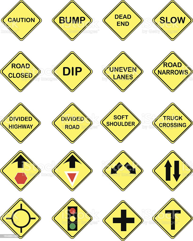 US Road Signs royalty-free us road signs stock vector art & more images of bumpy