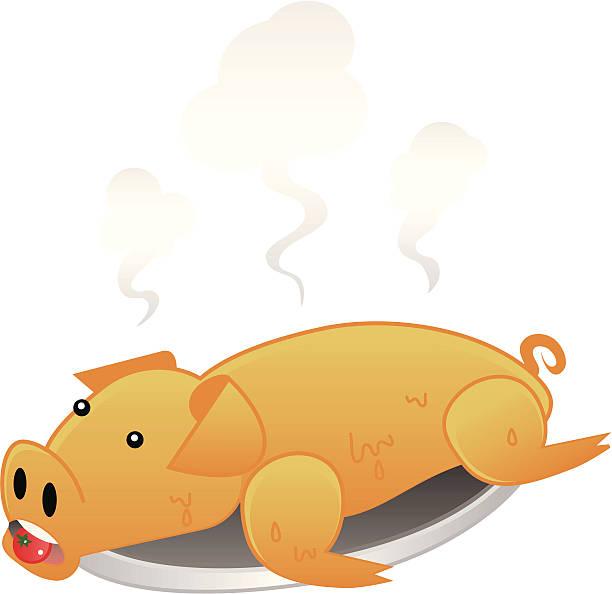 schweinebraten - schweinebraten stock-grafiken, -clipart, -cartoons und -symbole