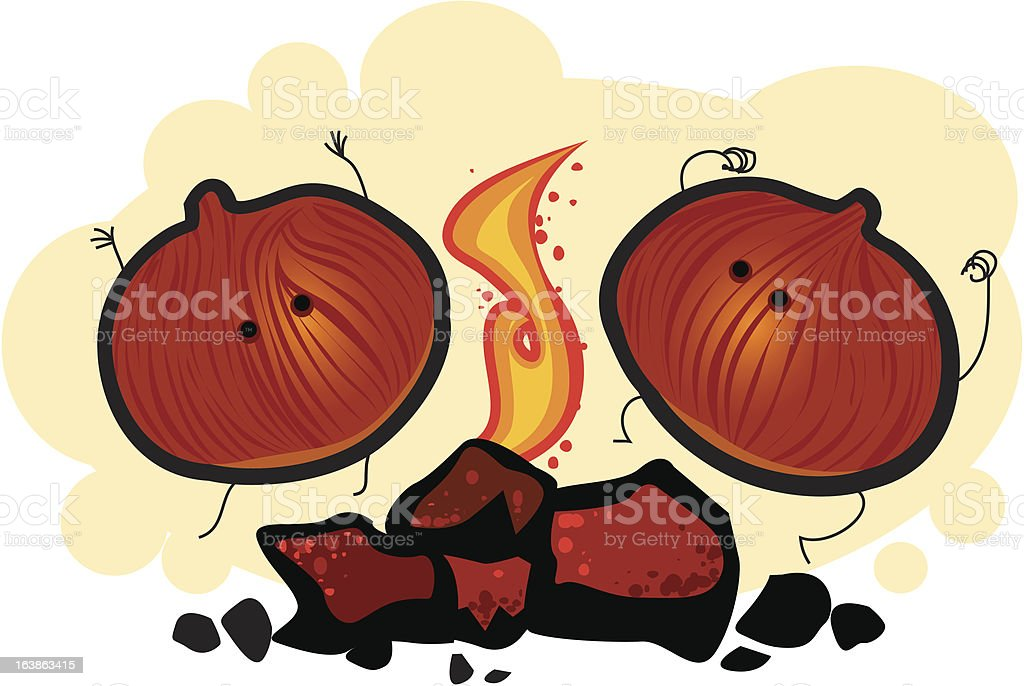Roasting Chestnuts royalty-free roasting chestnuts stock vector art & more images of celebration event