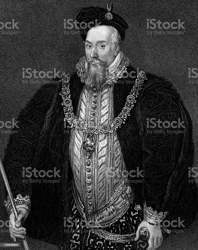 Robert Dudley, Earl of Leicester royalty-free stock vector art