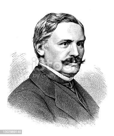 istock Robert von Keudell was a German diplomat 1202989145
