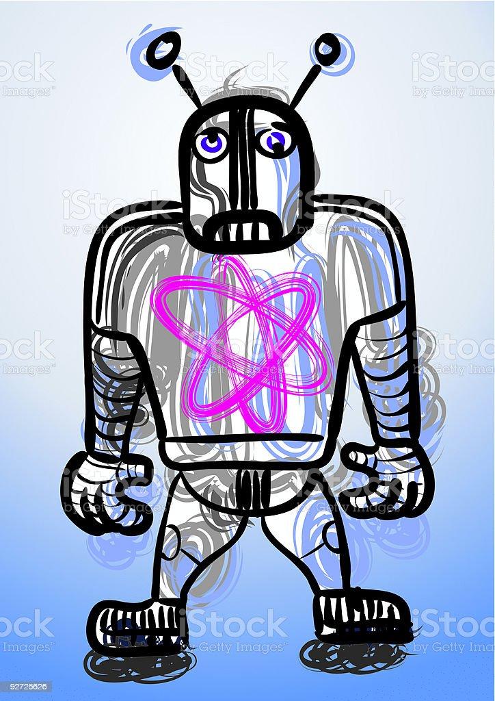 robi, die traurigen Roboter – Vektorgrafik