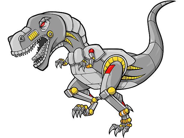 Robot Dinosaur Vector Illustration vector art illustration