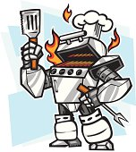 """""""robotic bbq grill wants to cook your food, i for one welcome our robotic chef overlords"""""""