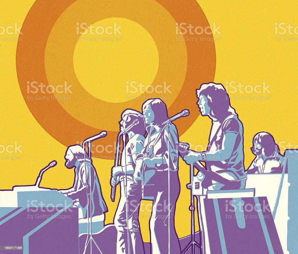 Rock Band royalty-free stock vector art