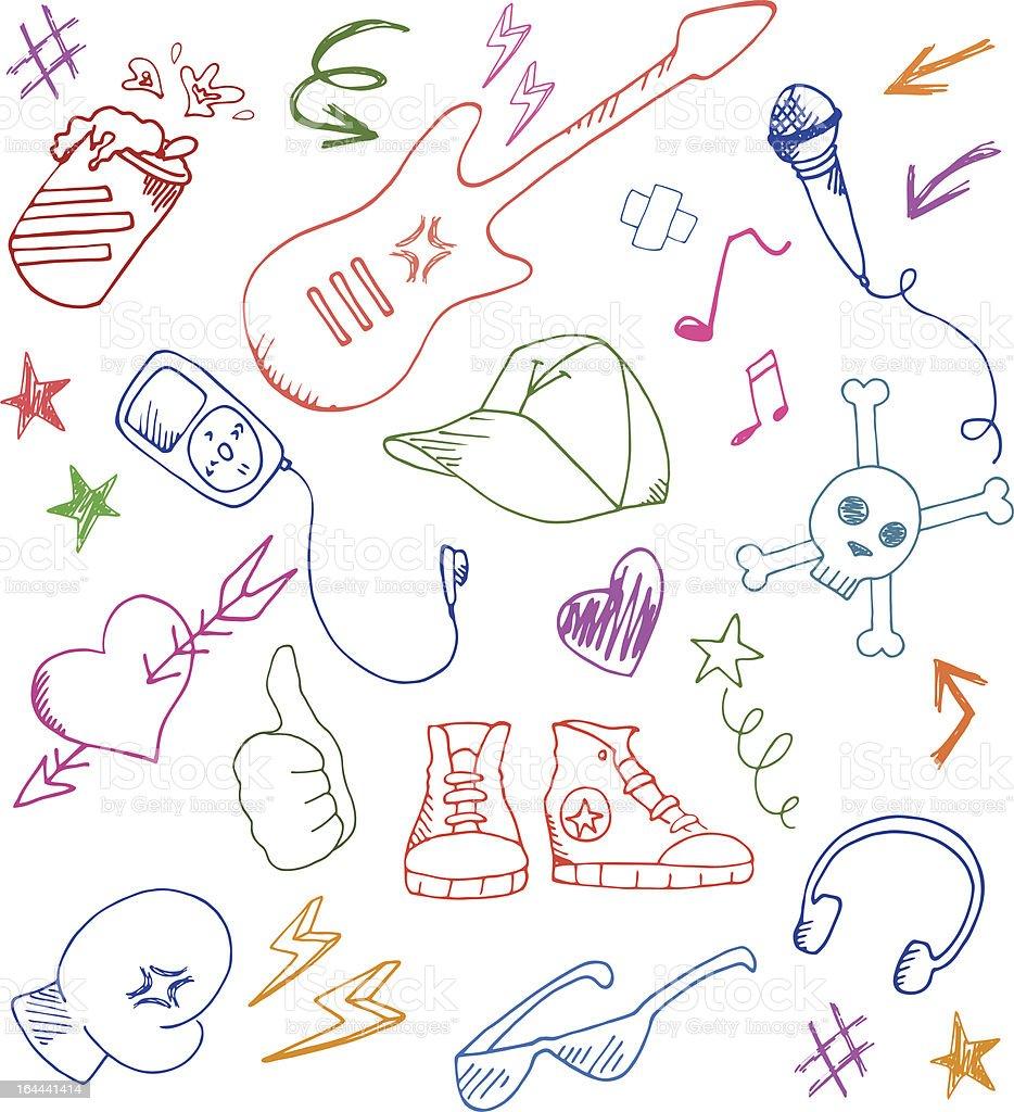 rock doodles royalty-free stock vector art